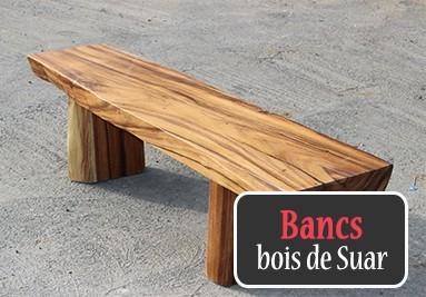 Banc en bois de Suar