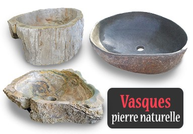 Vasques à poser en pierre naturelle